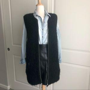 Maison Scotch Nubby Wool Vest